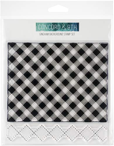 Concord & 9th Clear Stamps 6'X6'-Gingham Background