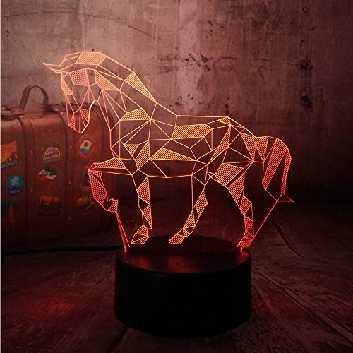 Tiernachtlicht Der Illusions-3D Für Geschenk, Schreibtischlampe Des Dekor-Led Weihnachtsdekor-Tischlichter Groß Für Hauptschlafzimmer-Geburtstags-Kindergeschenk Weihnachten