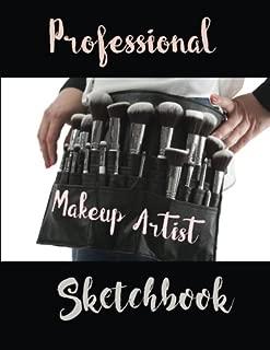 Professional Makeup Artist Sketchbook: 54 Female Head Poses with Product Log (Make-up Artist Sktechpad) (Volume 1)
