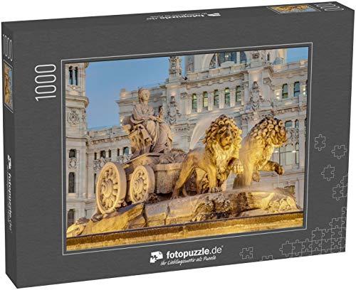 Puzzle 1000 Teile Cibeles Brunnen in der Innenstadt von Madrid, Spanien - Klassische Puzzle mit edler Motiv-Schachtel, Fotopuzzle-Kollektion 'Spanien'
