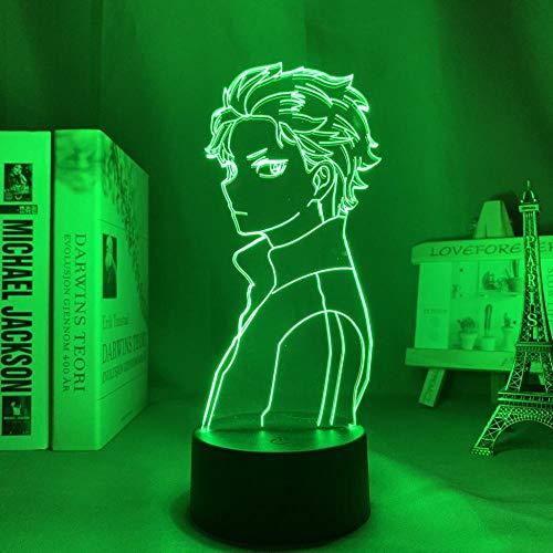 3D anime nattlampa för barn, lampa återkallar noll startliv i en annan värld LED för rumsdekor nattlampa Subaru Natsuki neonljus för födelsedag/julklapp (beröringskontroll)