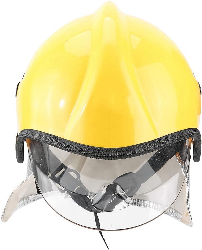 Casco de seguridad, diseño de perilla Casco de bombero Buena transmitancia Protección contra la radiación Gran rendimiento de aislamiento para proteger