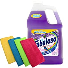 ALL PURPOSE CLEANER – The Fabuloso multi-purpose cleaner not only cleans thoroughly, it also leaves in its wake a long-lasting freshness that's bound to impress your friends and family. Concentrated in an easy-pour bottle, the Fabuloso cleaner is the...