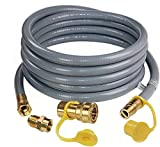 DOZYANT 24 Feet 1/2 ID Natural Gas Hose, Propane Gas Grill Quick Connect/Disconnect Hose Assembly with 3/8' Female Flare by 1/2' Male Flare Adapter for Outdoor NG/Propane Appliance