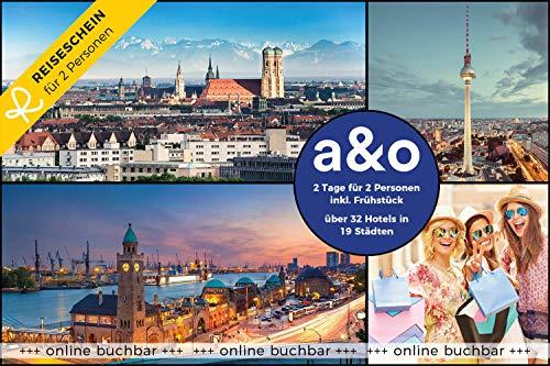 Reiseschein Hotelgutschein 2 Tage für 2 in 1 von 32 a&o Hotels in 19 Städten Gutschein Kurzreise