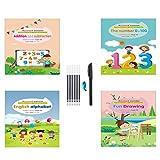 YEES Magic Caligrafía Copybook Caligrafía El Reutilizar se puede escribir a mano Copybook Set para escribir cartas de caligrafía para niños