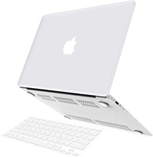 Aleesh 2 In 1 Soft-touch Series Plastic Hard Case & Keyboard Cover For Apple Macbook Air 13-inch 13.3 A1369/1466 White