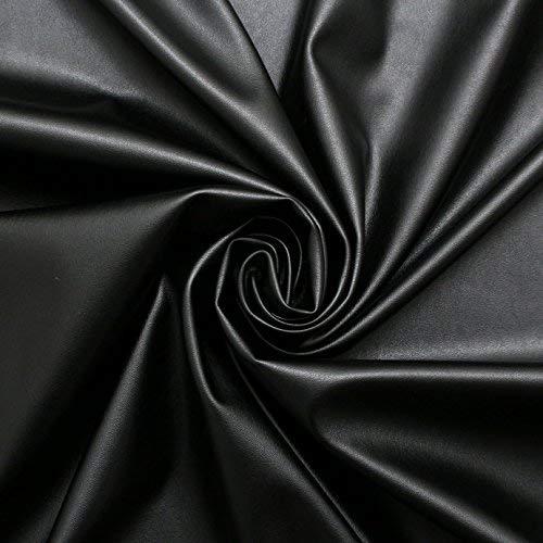1 Way Stretch Black High Gloss PVC Shiny Stretch Fabric FREE POSTAGE
