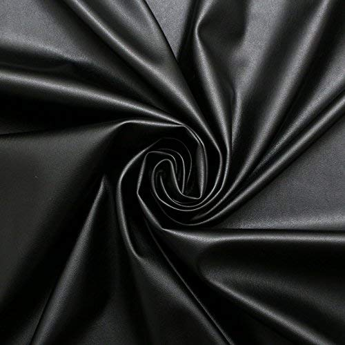 schwarz Kunstleder Schneiderei Bekleidung Kunstleder Lycra Stretch Stoff PVC Material