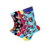 TTD 4-6 Packs Hombres/Mujeres Colorido algodón divertido ropa de vestir calcetines casuales, Tipo G, Einheitsgröße