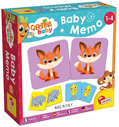 Lisciani Giochi- Carotina Baby Memo Cuccioli Gioco Educativo, Multicolore, 80052