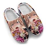 Japanese Anime Slippers Mens Womens Custom Indoor Non-Slip Warm House Slipper Gifts for Festival,Women 12/13,Men 10/11