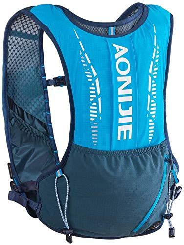 JiangTao Mochila de hidratación para correr, ligera, 5 litros, volumen de hidratación, chaleco de carrera, mochila de senderismo, para maratón, correr, camping, senderismo, deportes