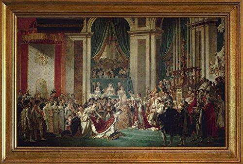 Berkin Arts con Cornice Jacques Louis David Giclée Tela Stampa La Pittura Poster Riproduzione(L'incoronazione di Napoleone)