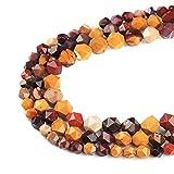 Ruilong - Perle sfaccettate di grado AA + Perline sfuse in pietra naturale per lavori fai da te, pietre preziose per la realizzazione di gioielli, Mookaite Jaspers, 8 mm