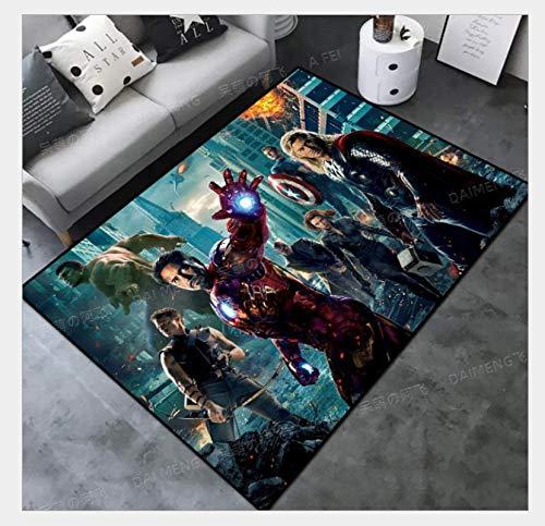 WallDiy Spiderman Tapis de Jeu Tapis de Salon décoration de Chambre d'enfants Grand Tapis Couloir Tapis de Sol Chambre Tapis de Chevet
