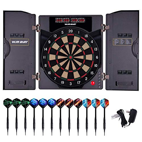WIN.MAX Electronic Soft Tip Dartboard Set with...