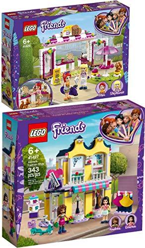 Lego Friends 41426 41427 Heartlake City - Juego de 2 casetas de gofres y accesorios de moda