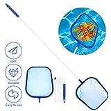 Red de Limpieza de Piscinas, Fixget Recogehojas para Piscinas Pool Skimmer Pool Leaf Net Mesh Skimming con 47' 5-Sección Polo de aluminio