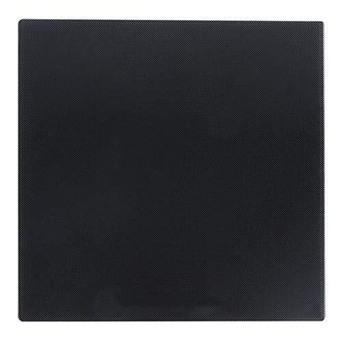 Carbon Silicon Glass Plate, 235 x 235mm Glass Bed Platform Heated Bed Build Plate Surface Print Bed for CR10 / Ender3 / 3S 3D Printer Hot Bed