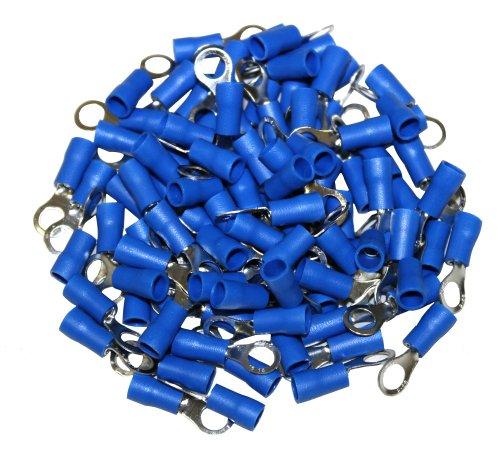 AERZETIX: Juego de 100 terminales eléctricos azul redondos de cable 5mm C1267