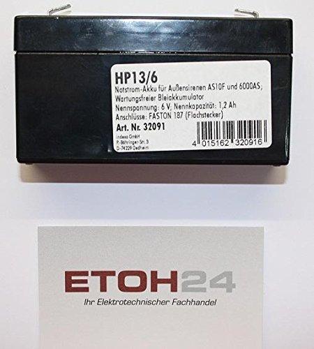 Indexa Notstrom-Akku HP 13/6 6V, 1,3Ah Akku 4015162320916