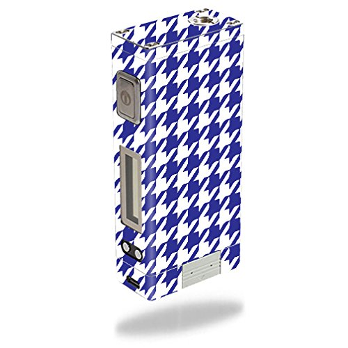 MightySkins Skin Compatible with Innokin iTaste MVP 3.0 – Blue Houndstooth | Protective, Durable, and Unique Vinyl Decal wrap Cover | Easy to Apply, Remove, and Change Styles | Made in The USA