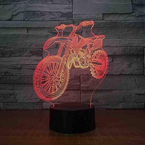 Motocross Bike Shape Nachtlichter Neuheit 3D Tischlampe LED USB 7 Farben Wechsel Sensor Schreibtischlampe als Urlaub Geburtstagsgeschenke