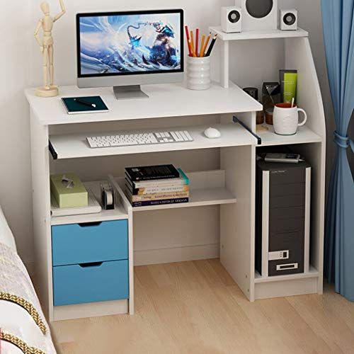 Computer Desk Home Office Desk, Laptop Study Writing Workstation with Storage Shelves Drawers Set for Small Space Kids Bedrooms - Ship from USA (39.37×15.75×28.3in)