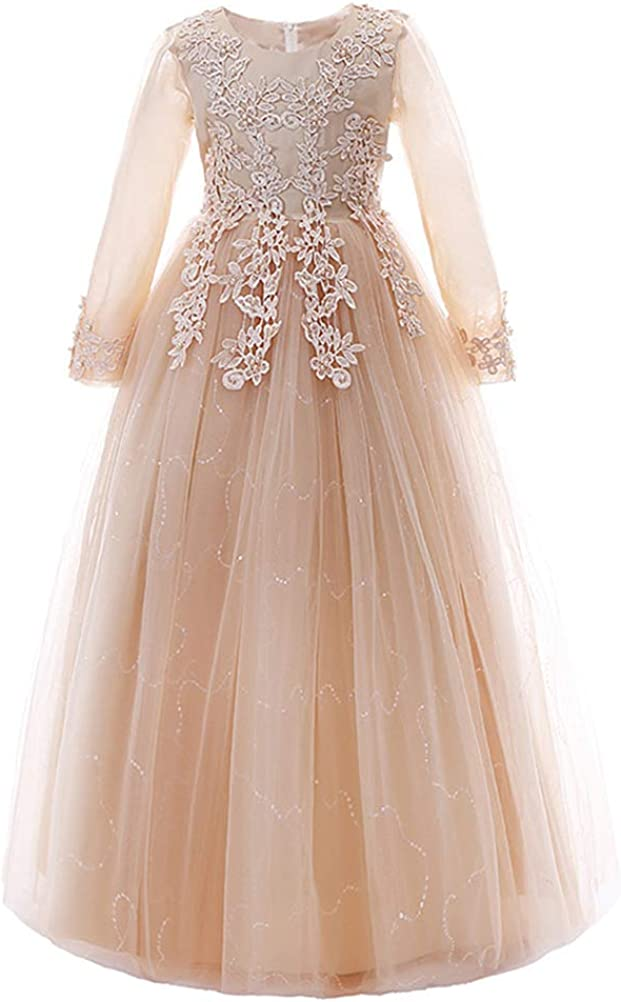 Mallimoda Girl's Lace Tulle cheap Flower To for Wedding Los Angeles Mall Dress Princess