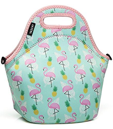 VASCHY Lunch Tasche Einhorn Isoliertasche Kühltasche Lunchtasche Thermische Lunch Tasche Mittagessen Tasche für Mädchen Kinder