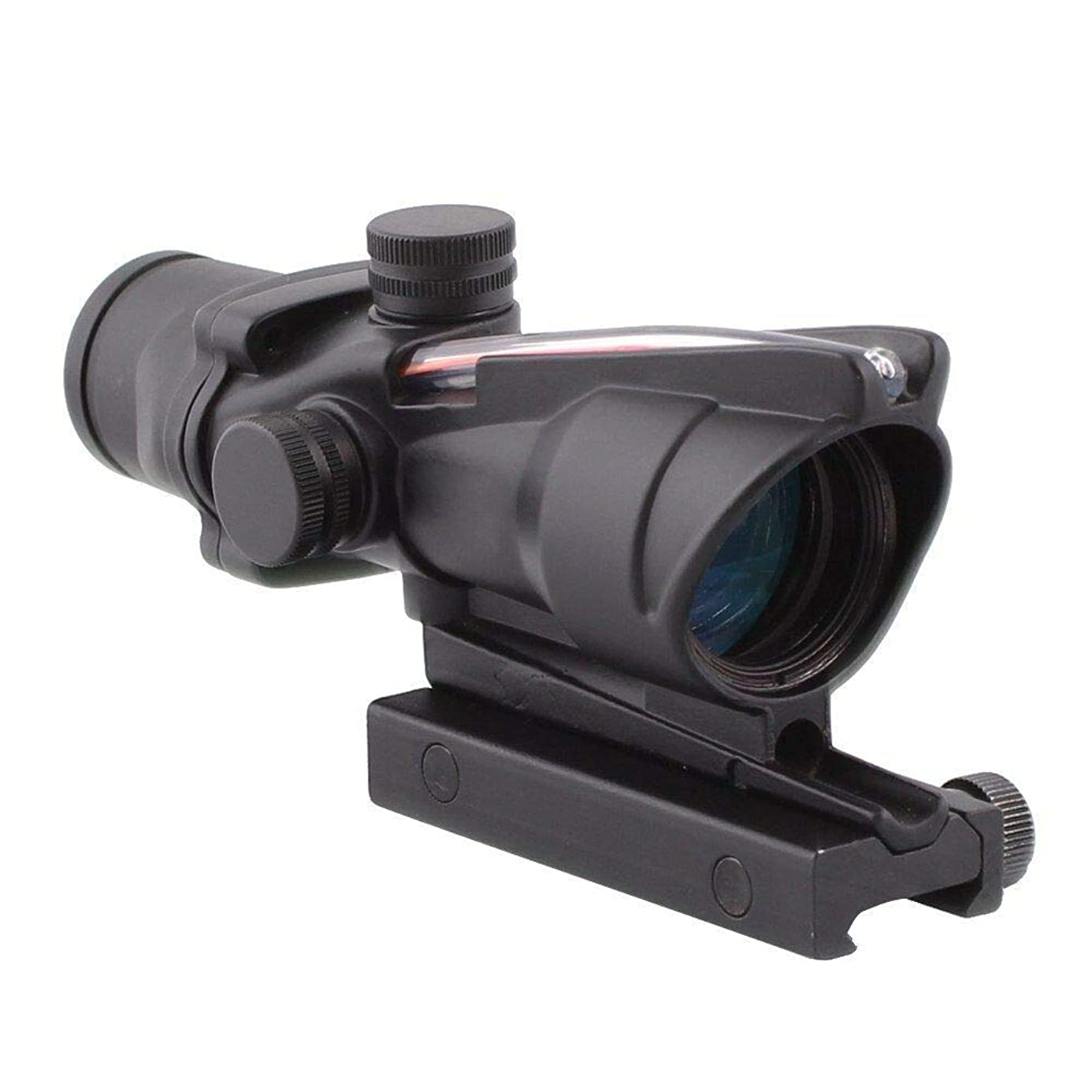 DEENFEND 4x32 ACOG Hunting RifleScopes Optic Sight Reticle Real Red Fiber ncy6756316