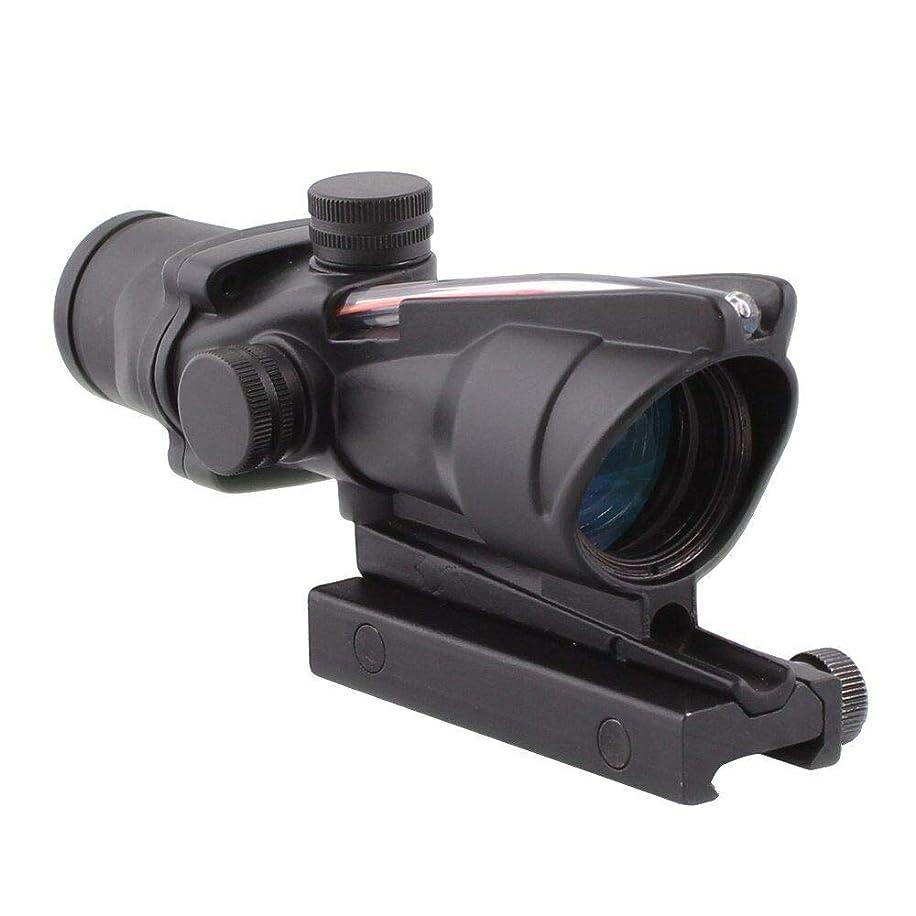 DEENFEND 4x32 ACOG Hunting RifleScopes Optic Sight Reticle Real Red Fiber