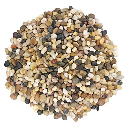 Miukada 5 Pounds River Rocks, Pebbles, Decorative Polished Gravel, Natural Polished Mixed Color Stones