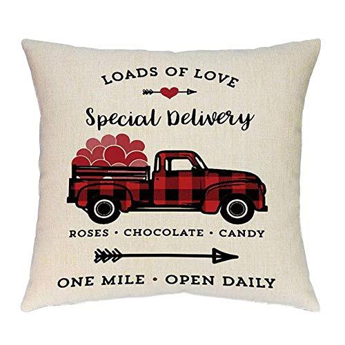 Funda de almohada de San Valentín para sofá, fundas de cojín decorativas de 45 x 45 cm, diseño de loades de amor, color beige