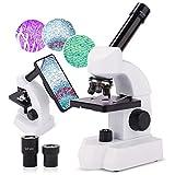 Microscopio 40X-800X Lente in Vetro Ottico con Ingrandimento per Bambini Studenti Microsco...