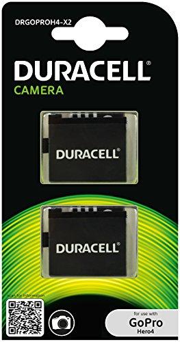 DuracellAkku für GoPro Hero 4AHDBT-401, Farbe: Schwarz, DRGOPROH4-X2, 2 Stück