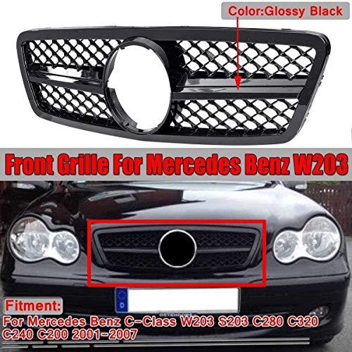 XBXDM Autogitter Amg Style Grill Für Mercedes Benz C-Klasse W203 S203 C280 C320 C240 C200 2001-2007