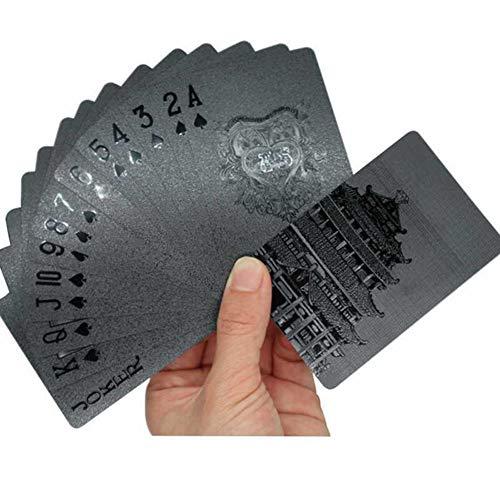 Waterproof Black Playing Cards, Deck Frosting Black Diamond Luxury Poker