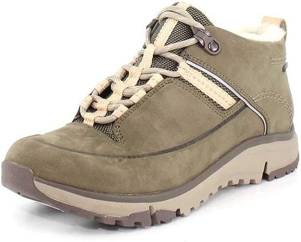 CLARKS femmes Tri Fern GTX Khaki Combi Hiking chaussures - 6.5