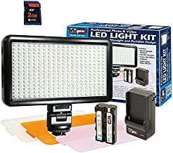 Fujifilm X-E1 Digital Camera Lighting Ultra-Slim LED-300 Vidpro Model LED-300 Professional Photo & Video Light Kit - with a Free Synergy Digital 2GB SD Card