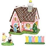 Department56 Original Snow Village Easter Sweets House Lit Building and Accessories, 7.08', Multicolor