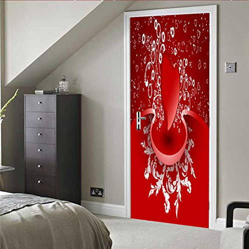 Tür Fotorote Liebe Zu Hause Tür Aufkleber Wandaufkleber Wanddekoration Aufkleber 77X200Cm
