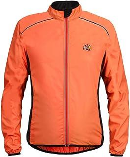 PinShang Bike Bicycle Ultra-thin Windbreaker Raincoat Long Sleeve Cycling Jacket Orange L
