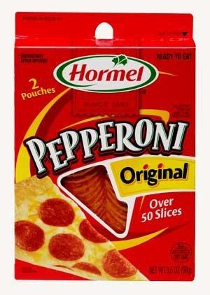 Hormel, Pizza Toppings, Original Pepperoni, 3.5oz Box (Pack of 4)