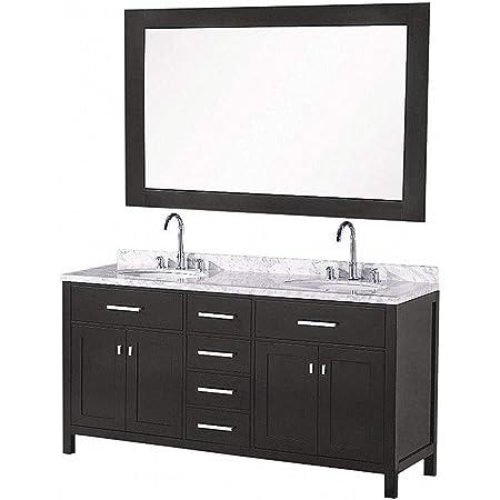 Design Element Dec076a London 61 Double Sink Vanity Set In Espresso Inch Bathroom Vanities Amazon Com