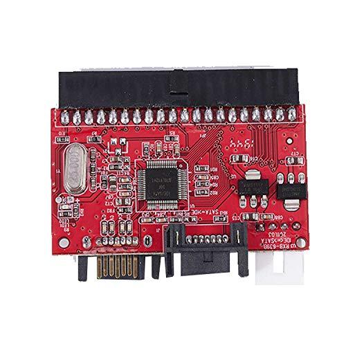 Lightofhope 2 en 1 Sata a IDE Adaptador IDE Convertidor de 40 Pines 2,5 Pulgadas Conducir de Disco Duro Apoypo pPara Ata HDD CD DVD pPara Computadora con Transferencia Bidireccional pPara Pc