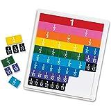 Learning Resources Azulejos de fracciones arco iris con bandeja