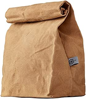 COLONY CO. Lunch Bag, Waxed Canvas, Durable, Plastic-Free, for Men, Women and Kids, Brown