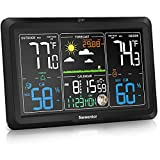 Newentor Weather Station Wireless Indoor Outdoor Thermometer, Atomic Clocks with...